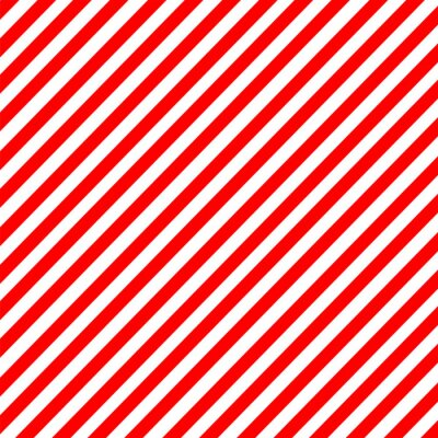 Väggdekor Diagonal rand röd-vitt mönster vektor