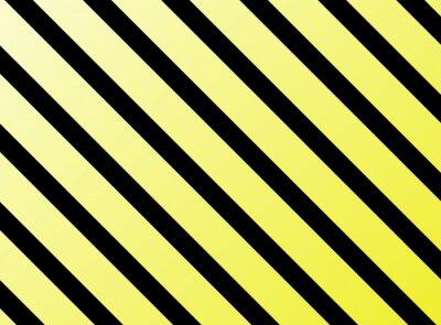 Väggdekor Diagonala ränder gul svart