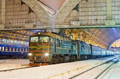 Väggdekor Diesel passagerartåg i Lviv, Ukraina