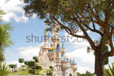 Väggdekor Disneyland Paris castle