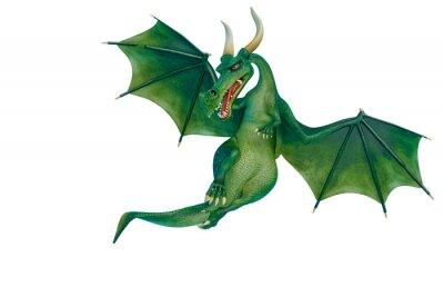 Väggdekor dragon cartoon is watchingn