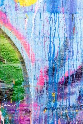 Väggdekor Droppande måla graffiti vägg