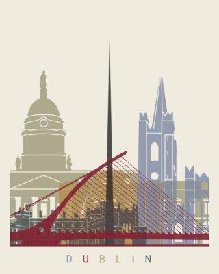 Väggdekor Dublin horisont affisch