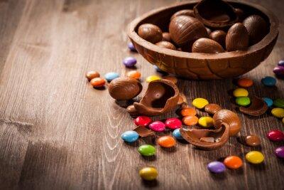 Väggdekor Easter chokladbakgrund