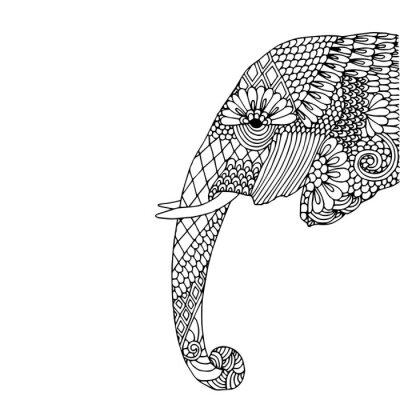 Väggdekor elefant huvud