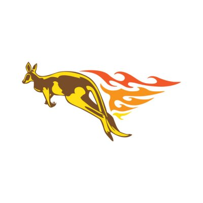 Väggdekor Elegant Kangaroo Flame