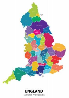 Väggdekor England kartlägger med Region