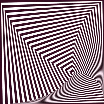 Väggdekor enkel abstrakt randig pyramidal bakgrund. optisk illusion t