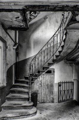 Väggdekor escalier vétuste