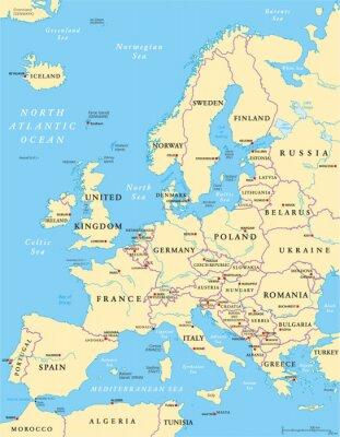Väggdekor Europa Political Map