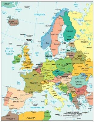 Väggdekor Europa politiska motsättningar