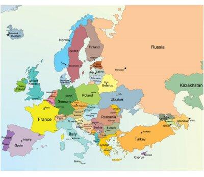 Väggdekor Europakarta.