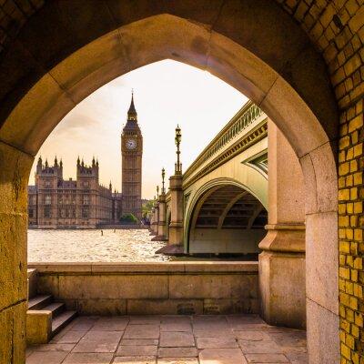 Väggdekor Färgglada Big Ben - Ovanlig vinkel