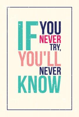 Väggdekor färgrik inspiration motivation affisch. grunge stil