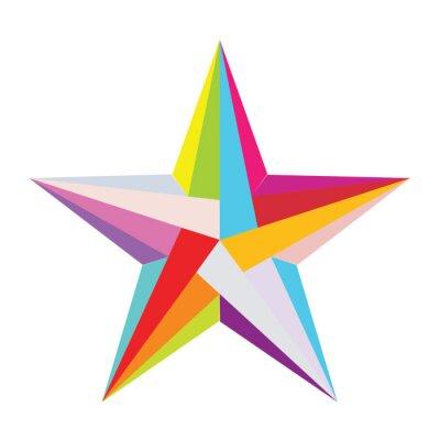 Väggdekor färgrik stjärna