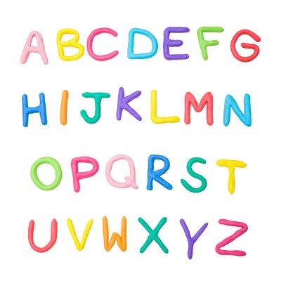 Väggdekor färgstarka alfabetet a till z