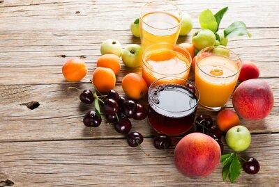 Väggdekor Färska fruktjuicer