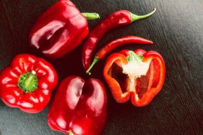 Väggdekor Färska grönsaker Färgglada paprika