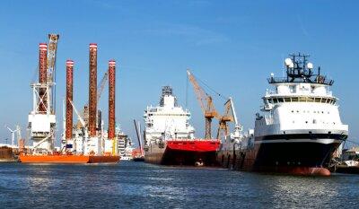 Väggdekor Fartyg i hamn