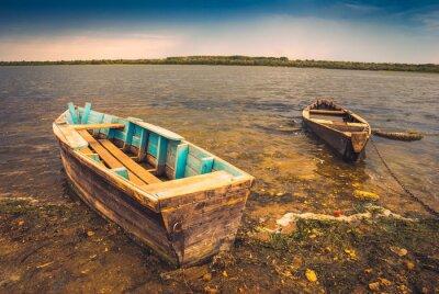 Väggdekor Fartyg på en river_2