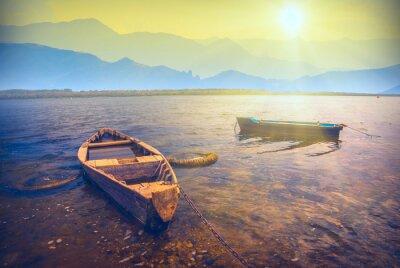 Väggdekor Fartyg på en river_6