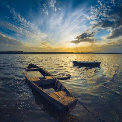 Väggdekor Fartyg på en Volga