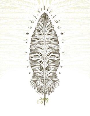 Väggdekor Feather ornamental symbol
