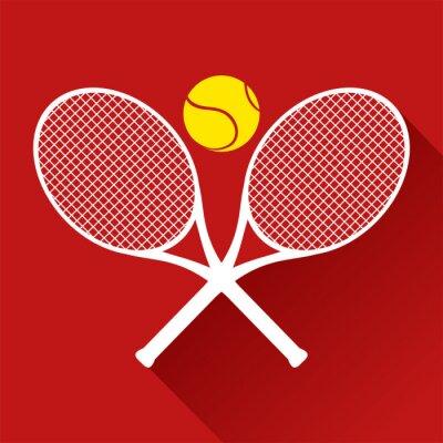 Väggdekor fin tennis icon
