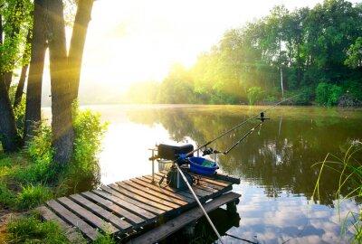 Väggdekor Fiske på floden