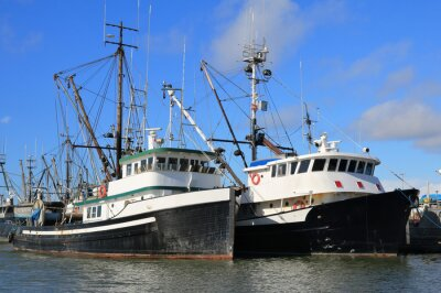 Väggdekor fiskebåtar