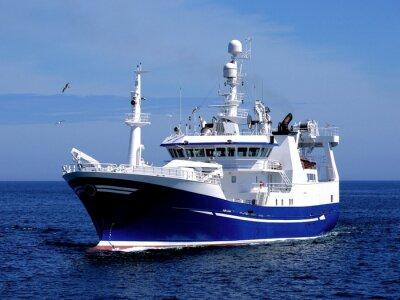 Väggdekor Fiskefartyg P1, fiskefartyg pågår för att hysa att landa fisk.