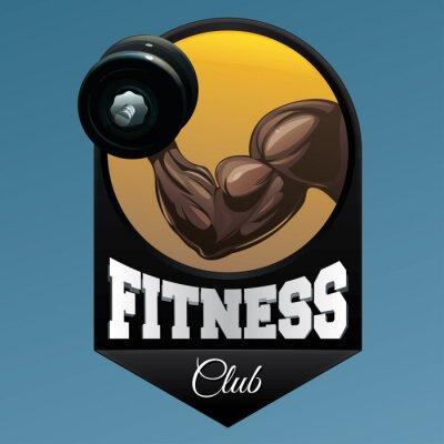 Väggdekor Fitness club emblem illustration