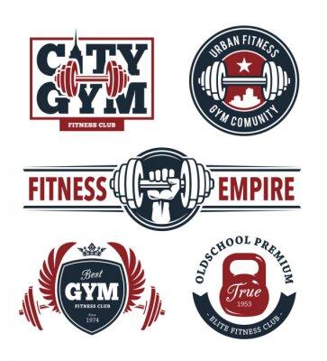 Väggdekor Fitness Emblem Set