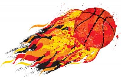 Väggdekor flammande basket