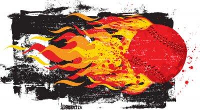 Väggdekor Flammande röda Fastball