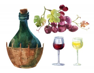 Väggdekor Flaskor Vine