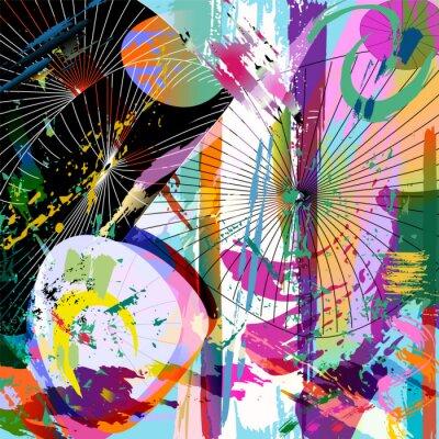 Väggdekor flerfärgad abstrakt komposition, vektorformat