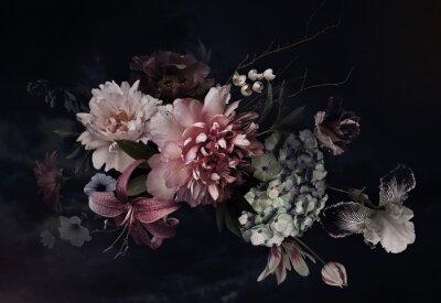 Väggdekor Floral background. Vintage flowers.