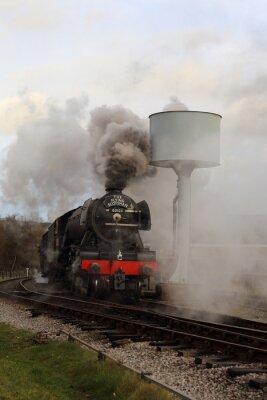 Väggdekor Flygande Scotsman med Steam och rök.