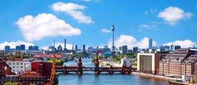 Väggdekor flygbild berlin skyline
