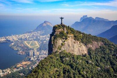 Väggdekor Flygfoto av Kristus Frälsaren och Rio de Janeiro