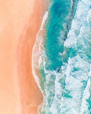 Väggdekor Flygfoto över den vackra australiska stranden längs Great Ocean Road, Victoria, på sommaren