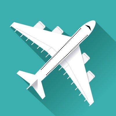 Väggdekor Flygplan ikonen design