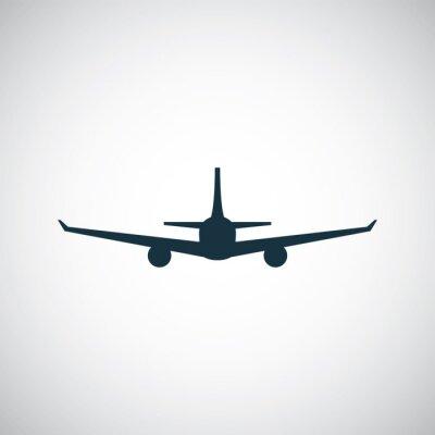 Väggdekor flygplansikon