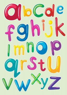 Väggdekor Font design med engelska alfabet