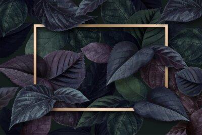Väggdekor Forest leaf frame