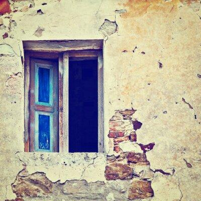 Väggdekor förfallen Fasad