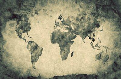 Väggdekor Forntida, gammalt världskartan. Rita skissar, vintage bakgrund