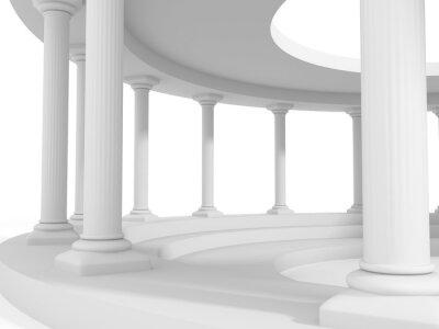 Väggdekor forntida stil kolumn arkitektur design bakgrund