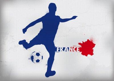 Väggdekor Fot Frankrike Graffiti